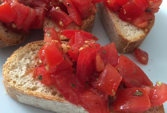 rezept, Rezepte, Tomate, Ciabatta, Bruschetta, Einfach, Sommerrezept